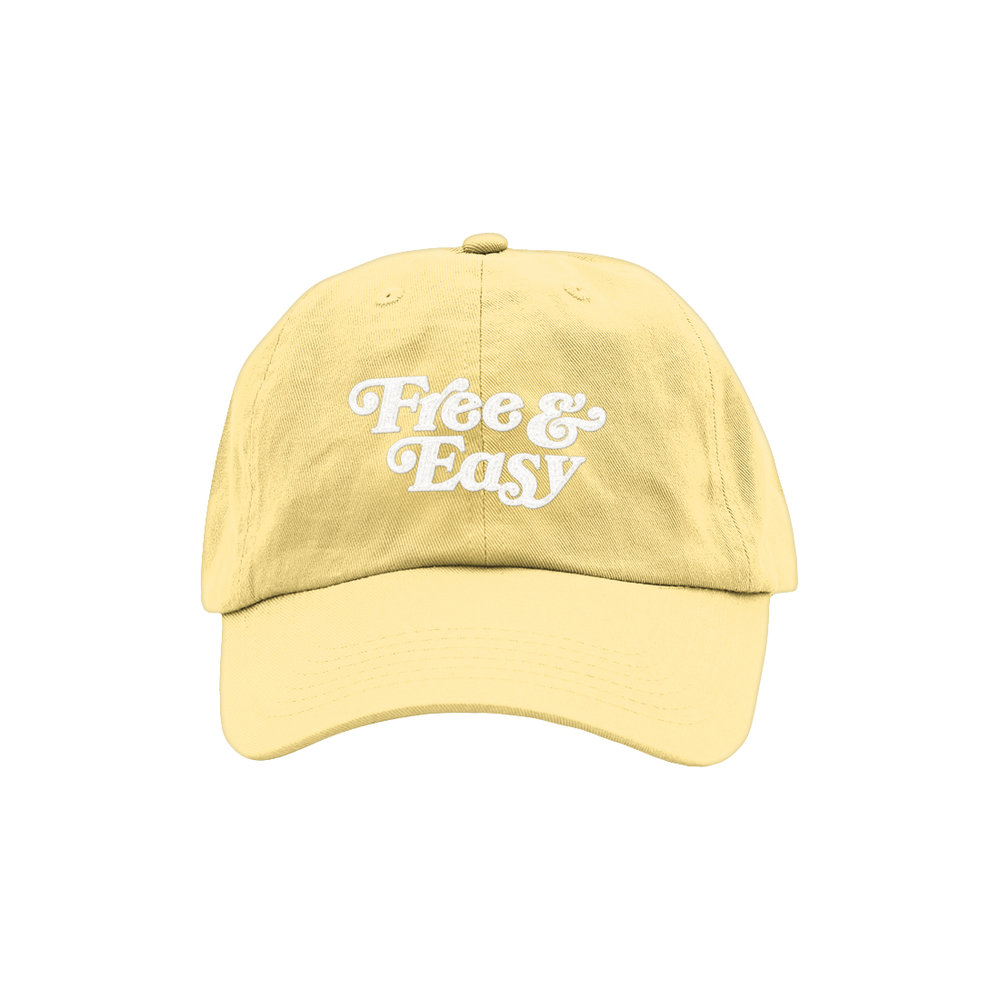 FREE & EASY DAD HAT (BUTTER)