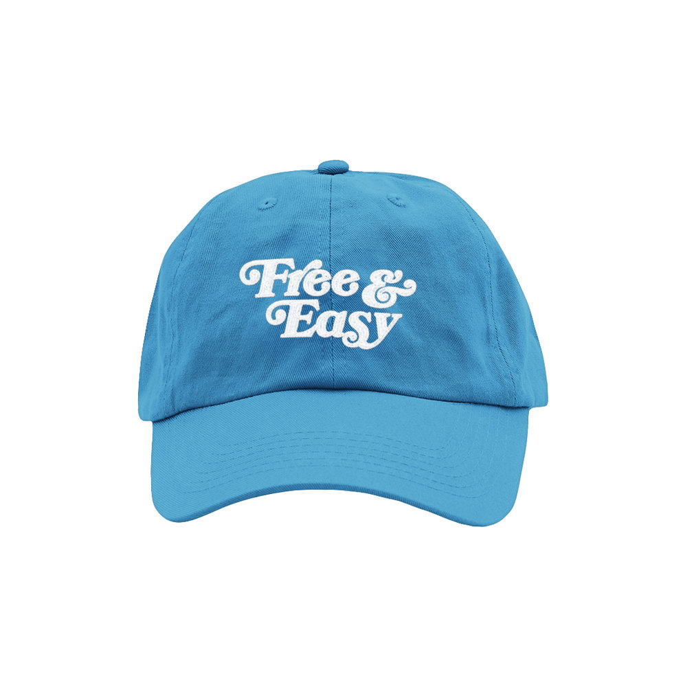 FREE & EASY DAD HAT (NEON BLUE)