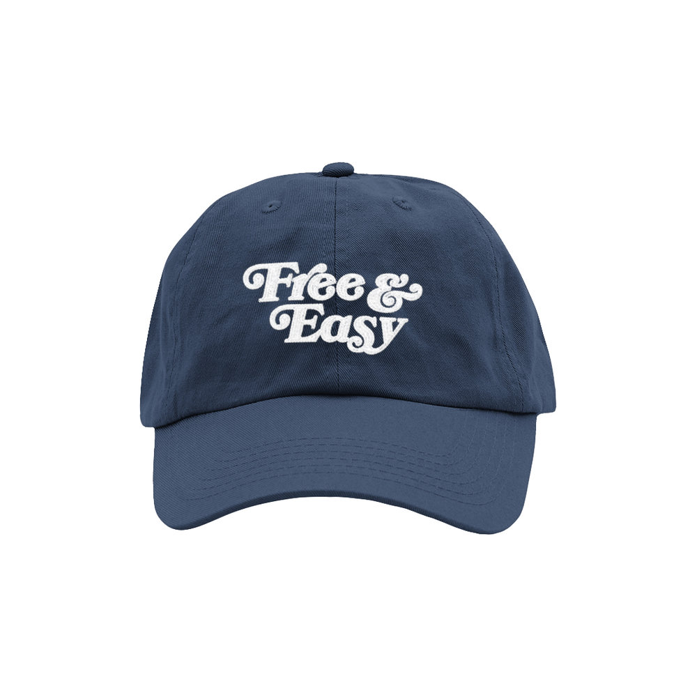 FREE & EASY DAD HAT (NAVY)
