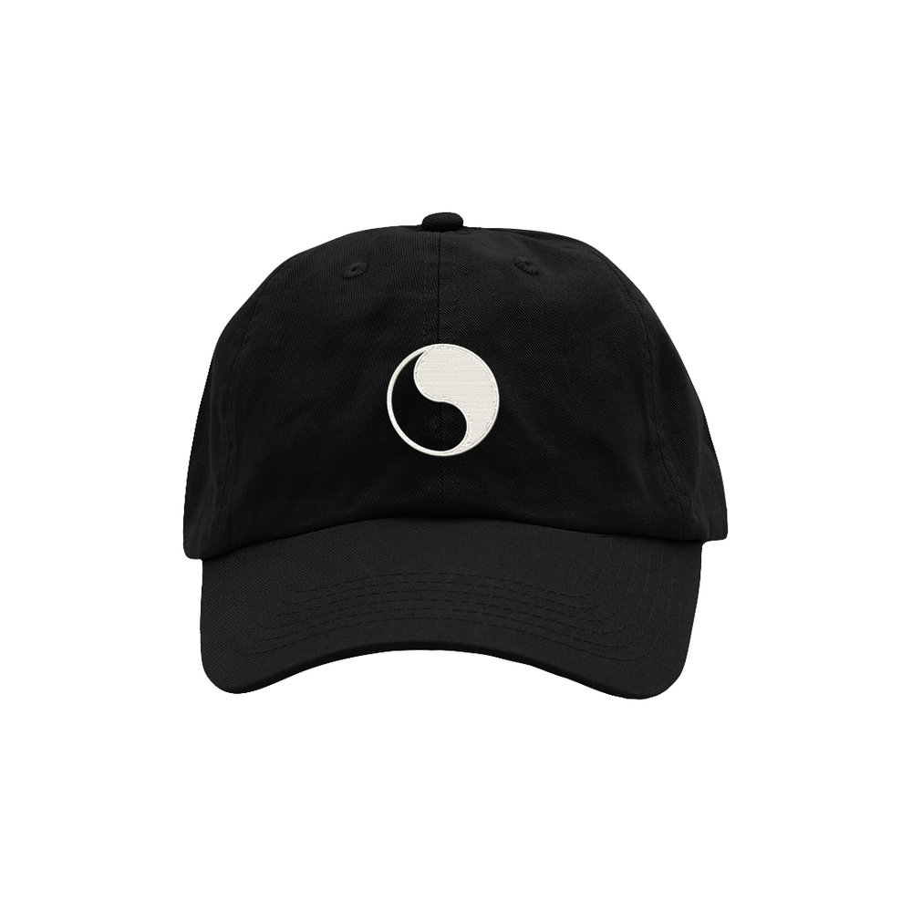YIN YANG DAD HAT (BLACK)