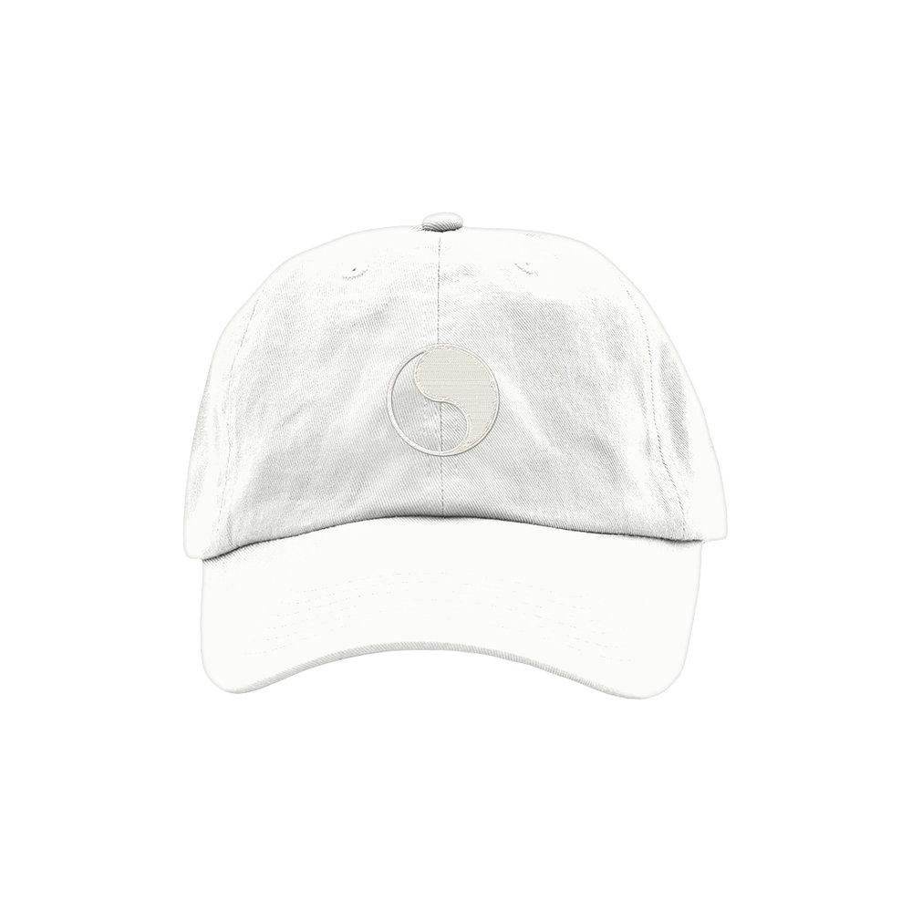 YIN YANG DAD HAT (WHITE)