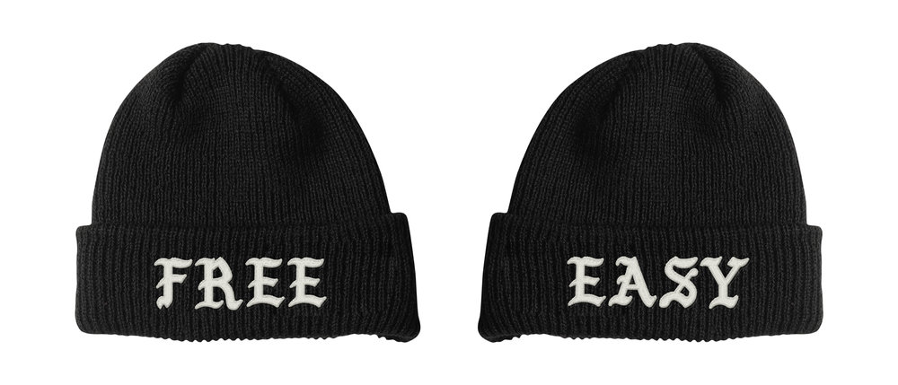 FREE / EASY BEANIE (BLACK)   STYLE # B0201  WHOLESALE: €20  SUGGESTED RETAIL: €45