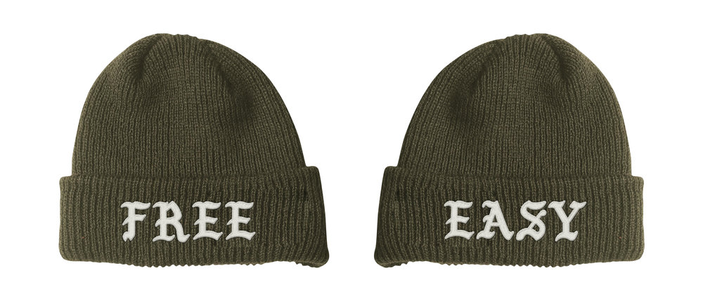 FREE / EASY BEANIE (DRAB)    STYLE #  B0203   WHOLESALE: €20  SUGGESTED RETAIL: €45