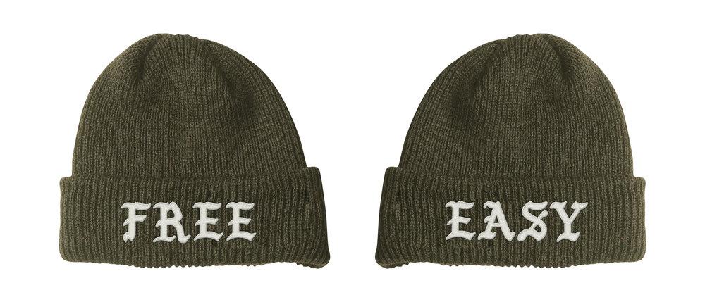 FREE / EASY BEANIE (DRAB)