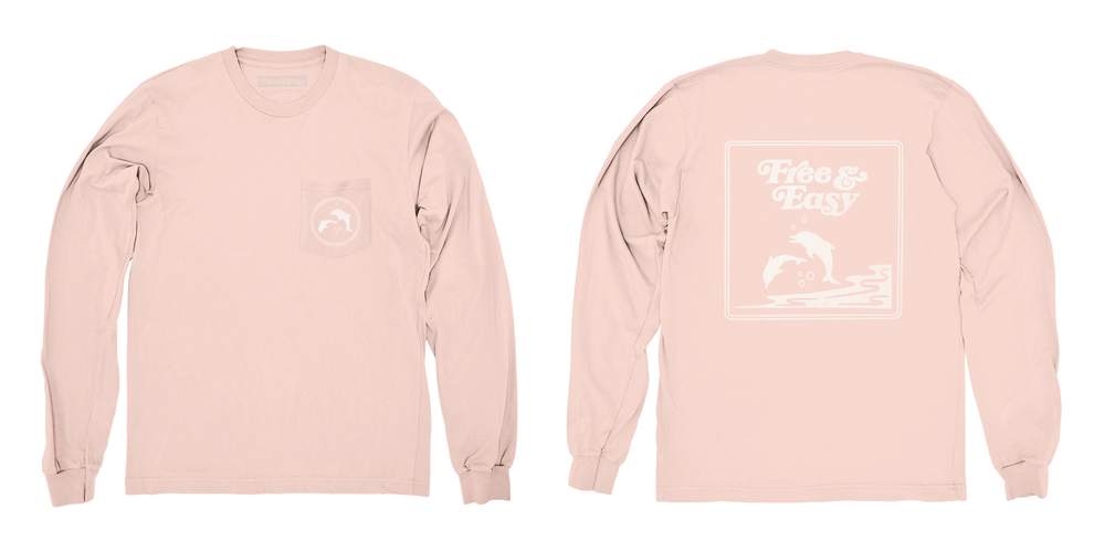 DOLPHIN FRIENDS LS POCKET TEE   STYLE #  LS0801   WHOLESALE: €34  SUGGESTED RETAIL: €75