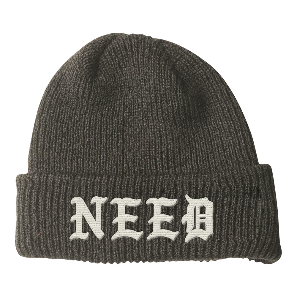 NEED BLACKLETTER BEANIE (FOLIAGE)