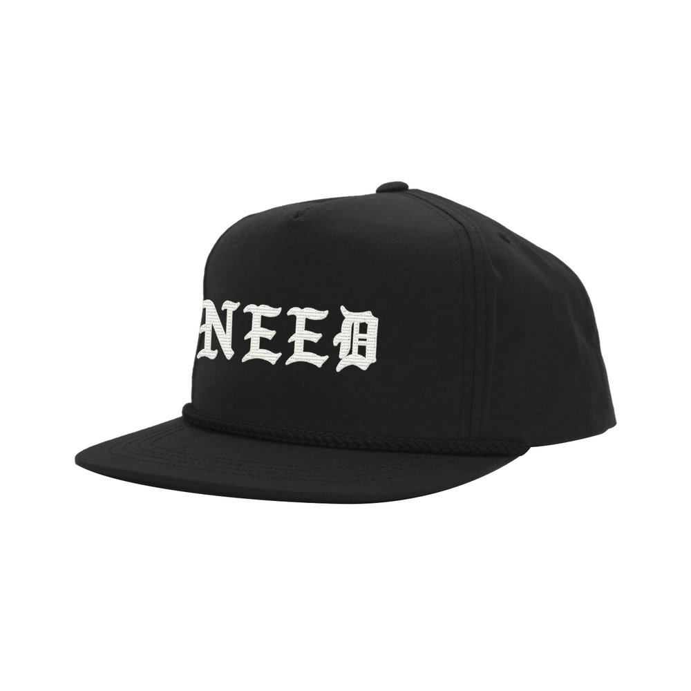 NEED BLACKLETTER CLASSIC HAT (BLACK)