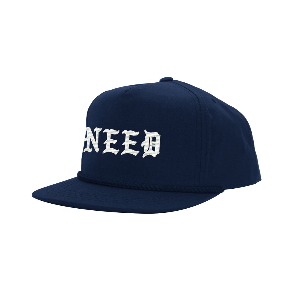NEED BLACKLETTER CLASSIC HAT (NAVY)