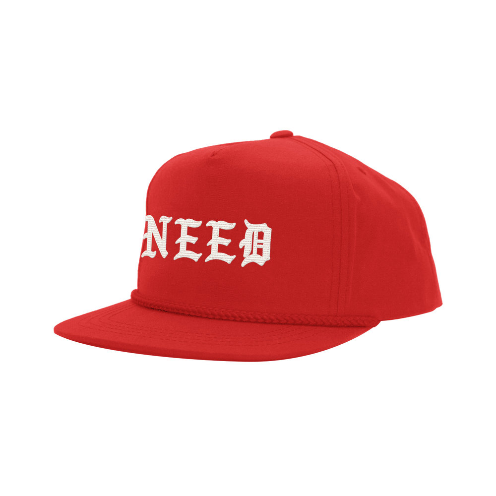 NEED BLACKLETTER CLASSIC HAT (RED)