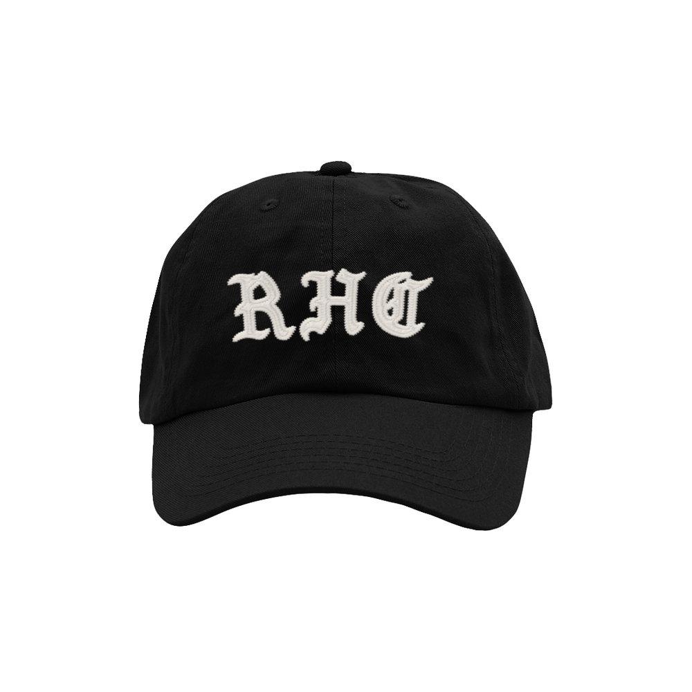 BLACKLETTER DAD HAT (BLACK)