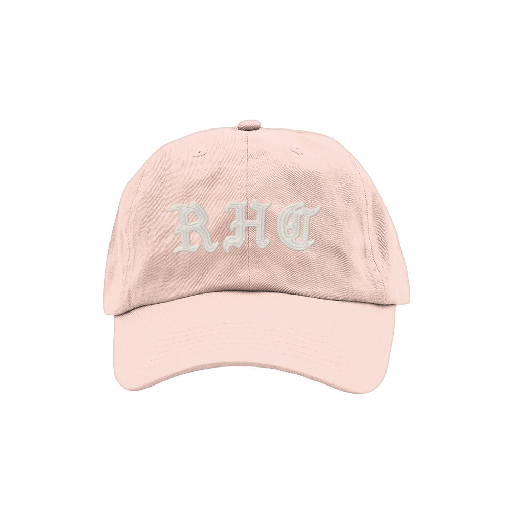 BLACKLETTER DAD HAT (PINK)