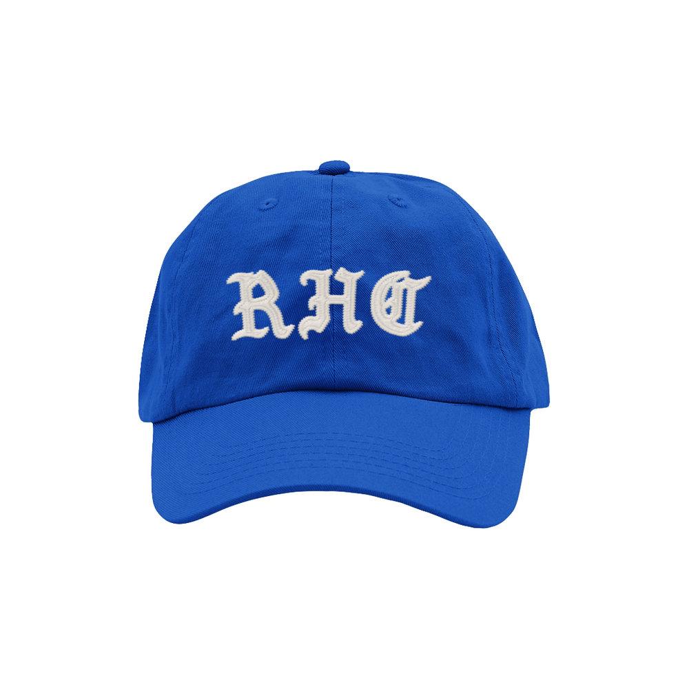 BLACKLETTER DAD HAT (BLUE)