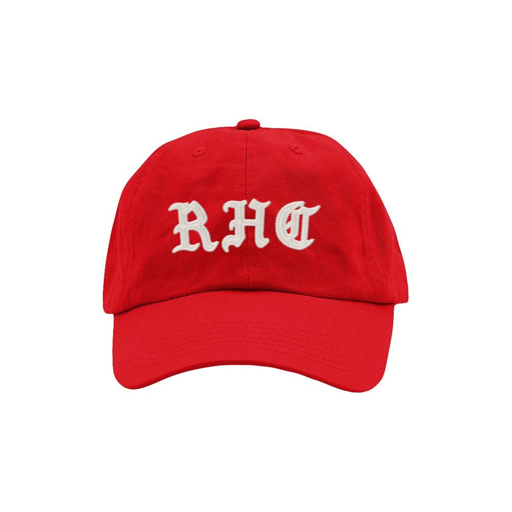 BLACKLETTER DAD HAT (RED)