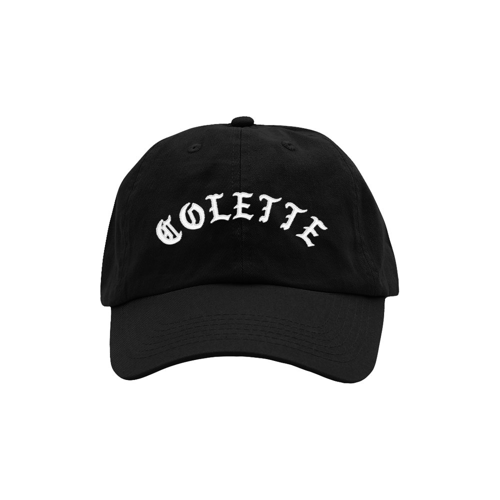 BLACKLETTER DAD HAT (BLACK)   STYLE # DH0101  WHOLESALE: €20  SUGGESTED RETAIL: €45