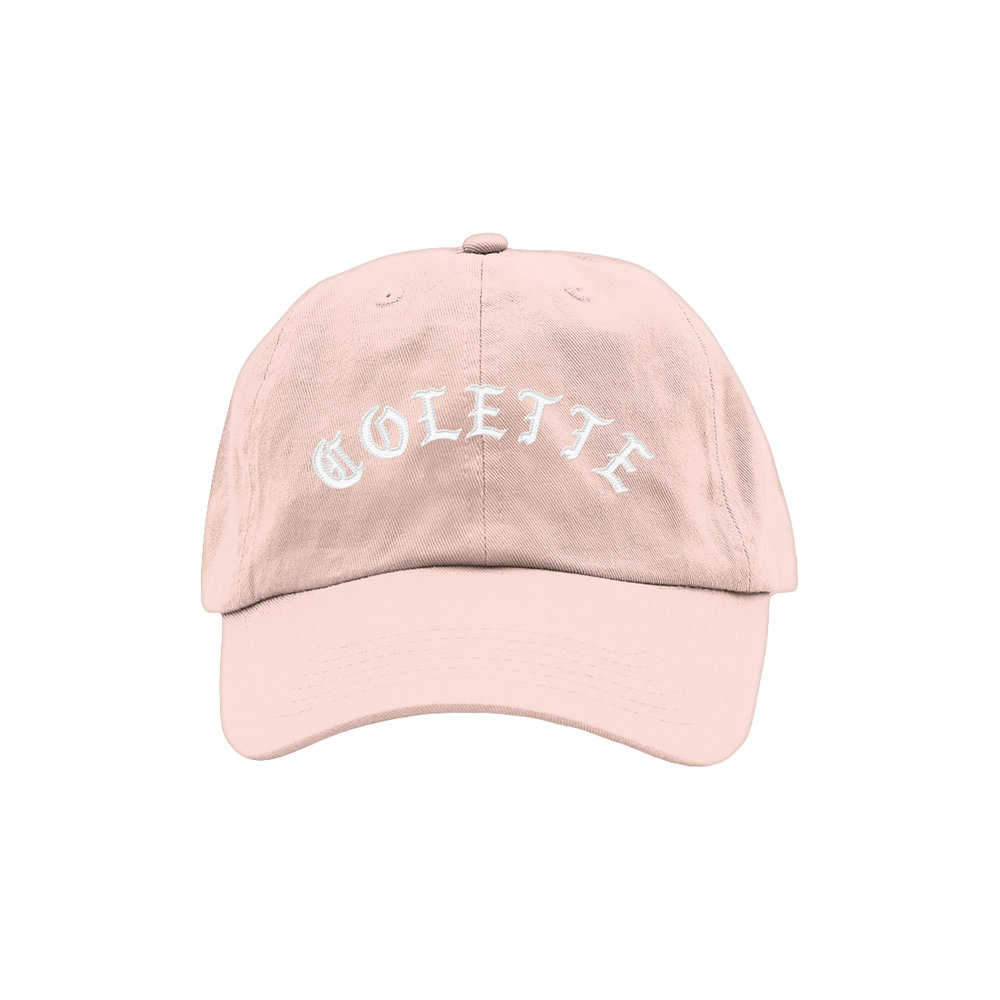 BLACKLETTER DAD HAT (PINK)   STYLE #  DH0102   WHOLESALE: €20  SUGGESTED RETAIL: €45