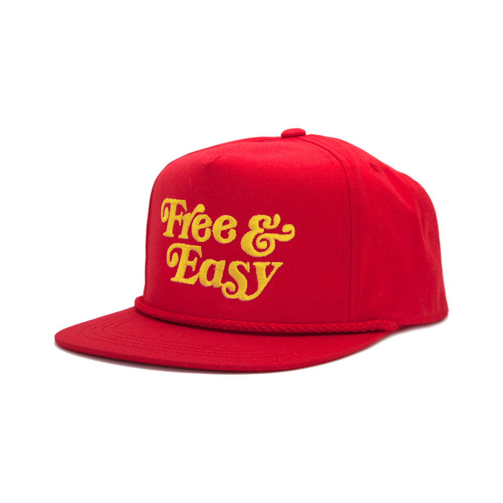 FREE & EASY CLASSIC HAT (RED+YELLOW)   STYLE #  CH05  05   WHOLESALE: €20  SUGGESTED RETAIL: €45