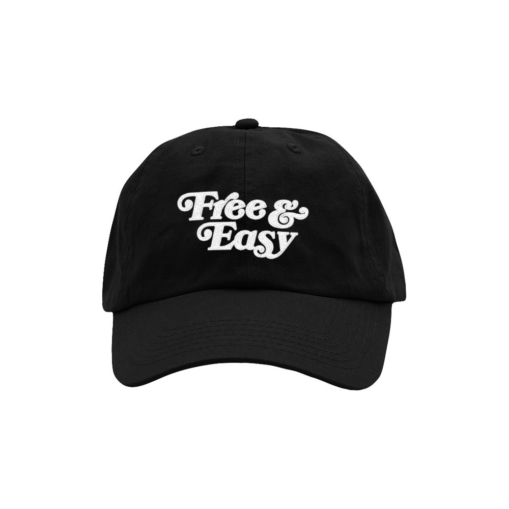 FREE & EASY DAD HAT (BLACK)   STYLE # D H0401   WHOLESALE: €20  SUGGESTED RETAIL: €45