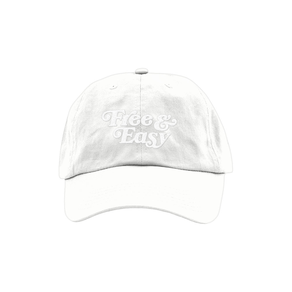 FREE & EASY DAD HAT (WHITE)   STYLE #  D  H0402   WHOLESALE: €20  SUGGESTED RETAIL: €45