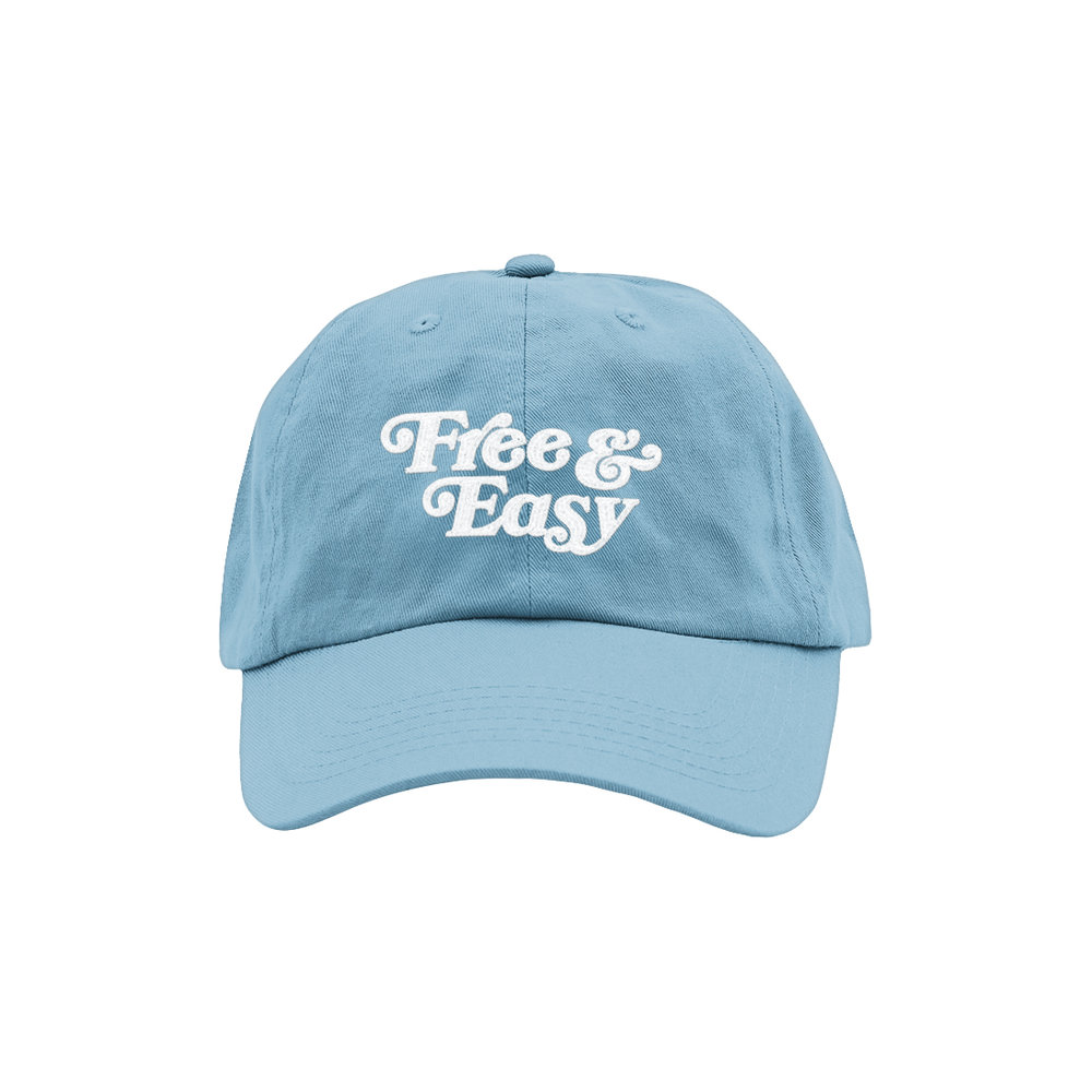 FREE & EASY DAD HAT (SKY BLUE)   STYLE #  D  H0408   WHOLESALE: €20  SUGGESTED RETAIL: €45