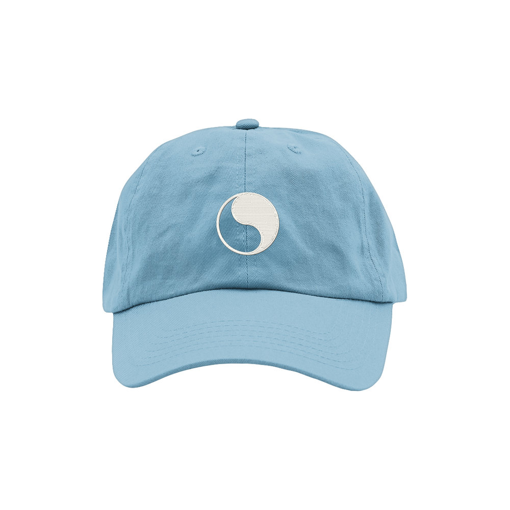YIN YANG DAD HAT (SKY BLUE)   STYLE #  DH09  02   WHOLESALE: €20  SUGGESTED RETAIL: €45