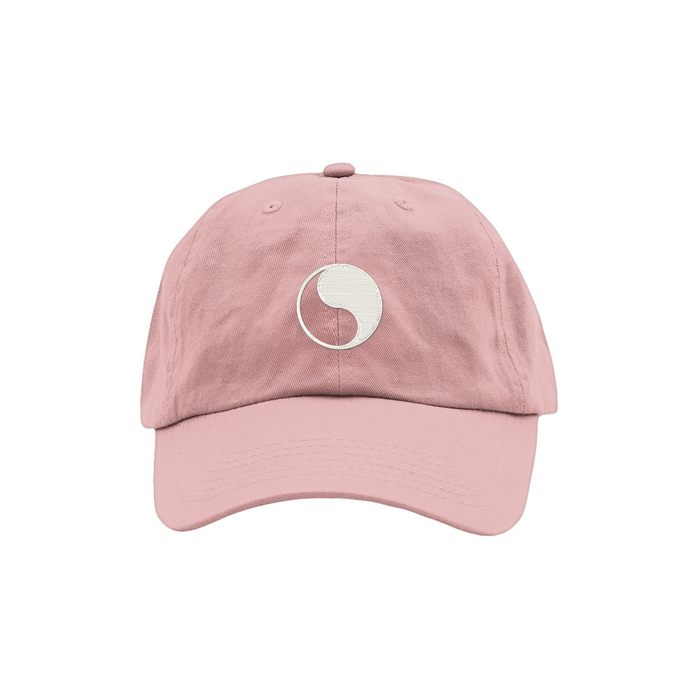 YIN YANG DAD HAT (PINK)   STYLE #  DH09  03   WHOLESALE: €20  SUGGESTED RETAIL: €45