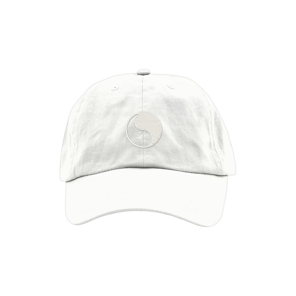 YIN YANG DAD HAT (WHITE)   STYLE #  DH09  04   WHOLESALE: €20  SUGGESTED RETAIL: €45