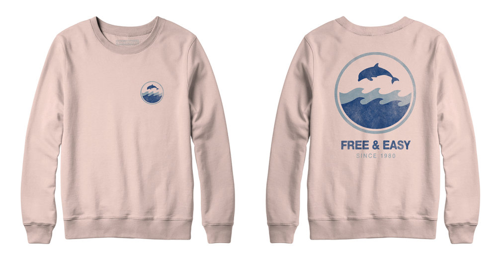 DOLPHIN WAVE CREWNECK SWEATSHIRT   STYLE # CNS0401  WHOLESALE: €41  SUGGESTED RETAIL: €90