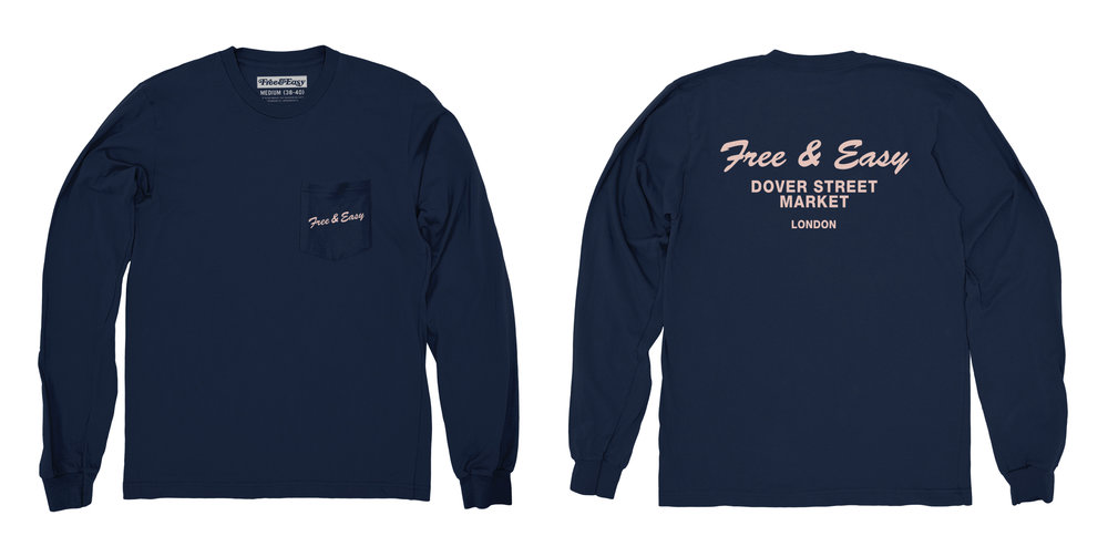 DELI LS POCKET TEE (NAVY)