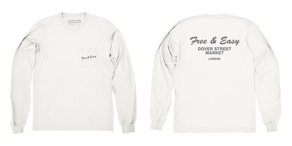 DELI LS POCKET TEE (WHITE)
