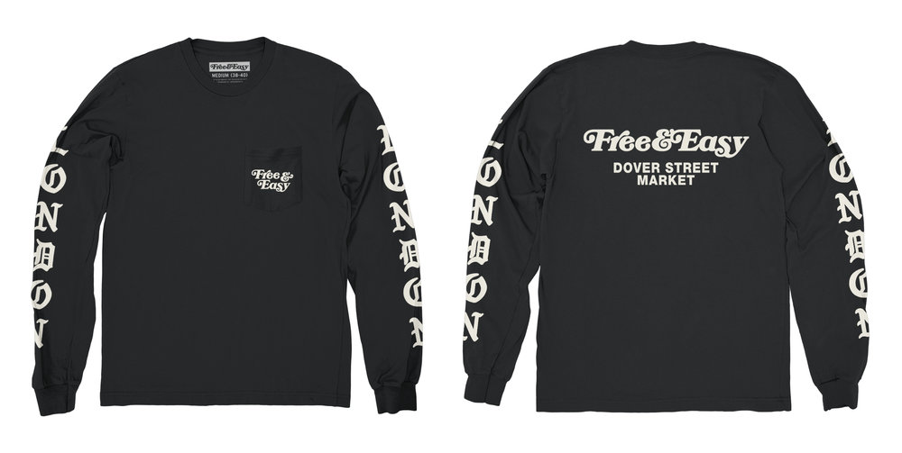 BLACKLETTER LS POCKET TEE (BLACK)