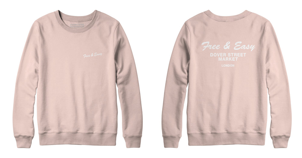 DELI CREWNECK SWEATSHIRT (BLUSH)