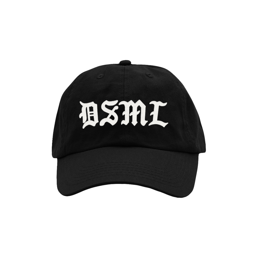 BLACKLETTER DAD HAT (BLACK)