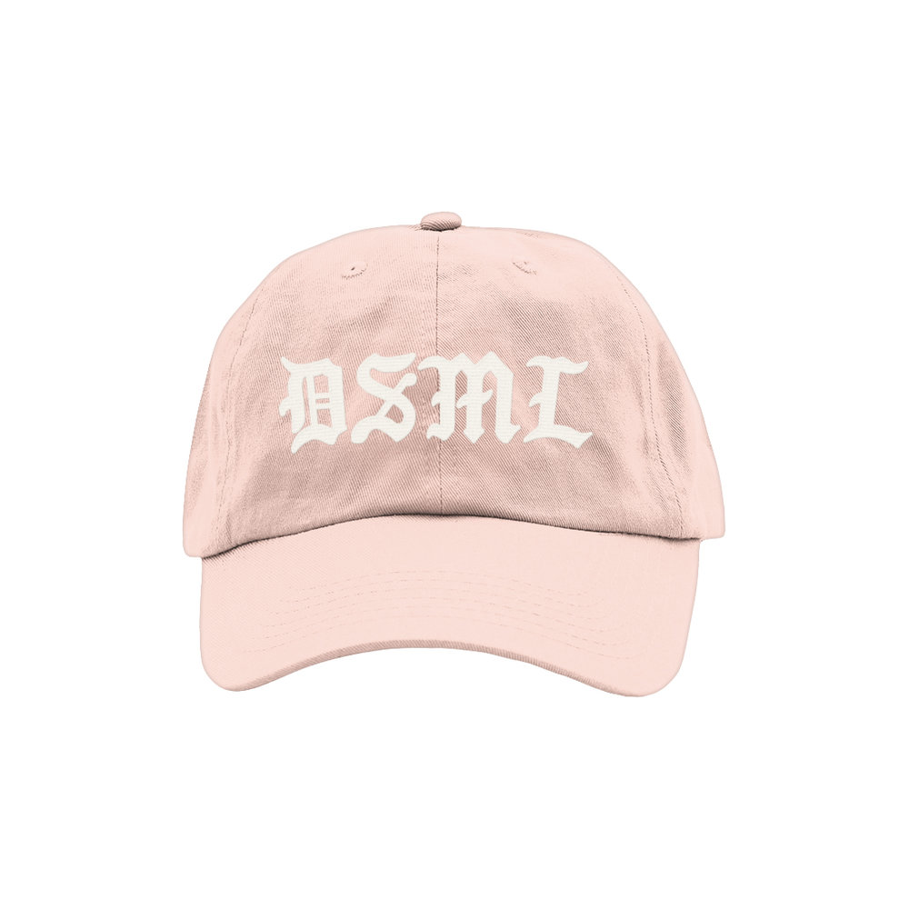BLACKLETTER DAD HAT (BLUSH)