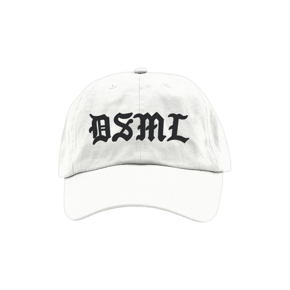 BLACKLETTER DAD HAT (WHITE)