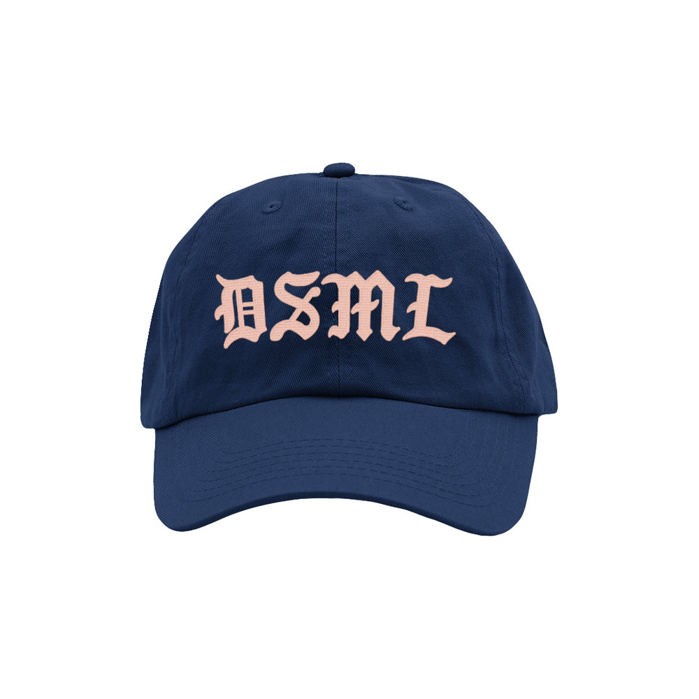 BLACKLETTER DAD HAT (NAVY)