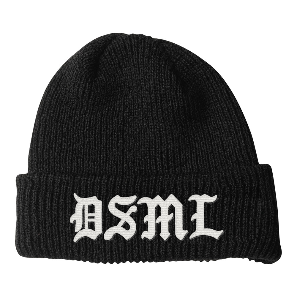 BLACKLETTER BEANIE (BLACK)