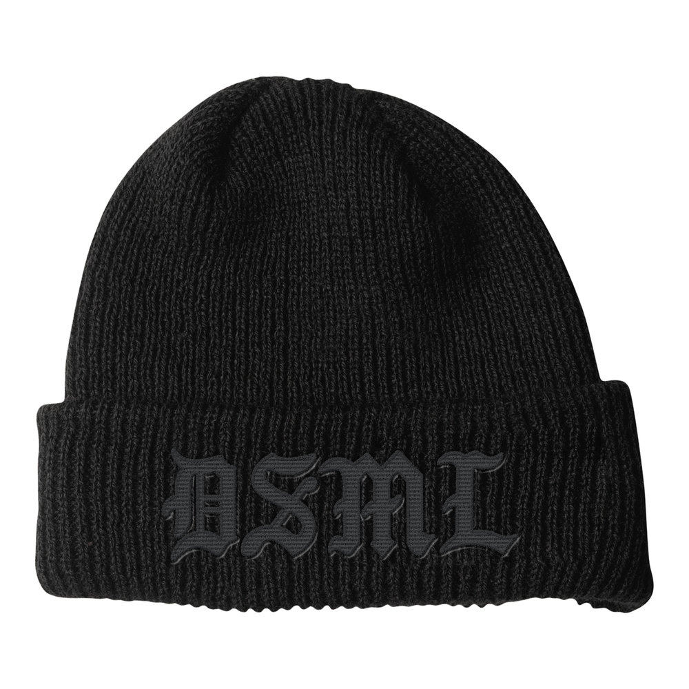 BLACKLETTER BEANIE (BLACK+BLACK)