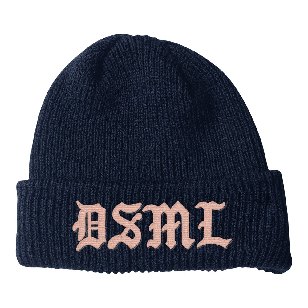 BLACKLETTER BEANIE (NAVY)