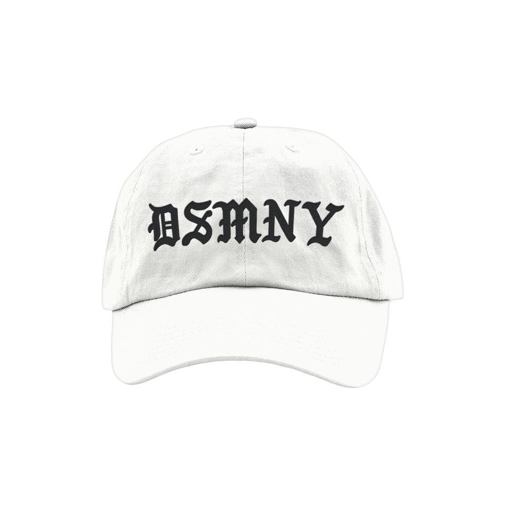 BLACKLETTER DAD HAT (WHITE)