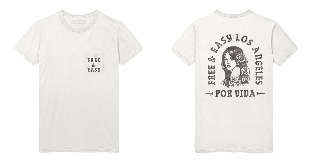 POR VIDA SS POCKET TEE (WHITE/BLACK)