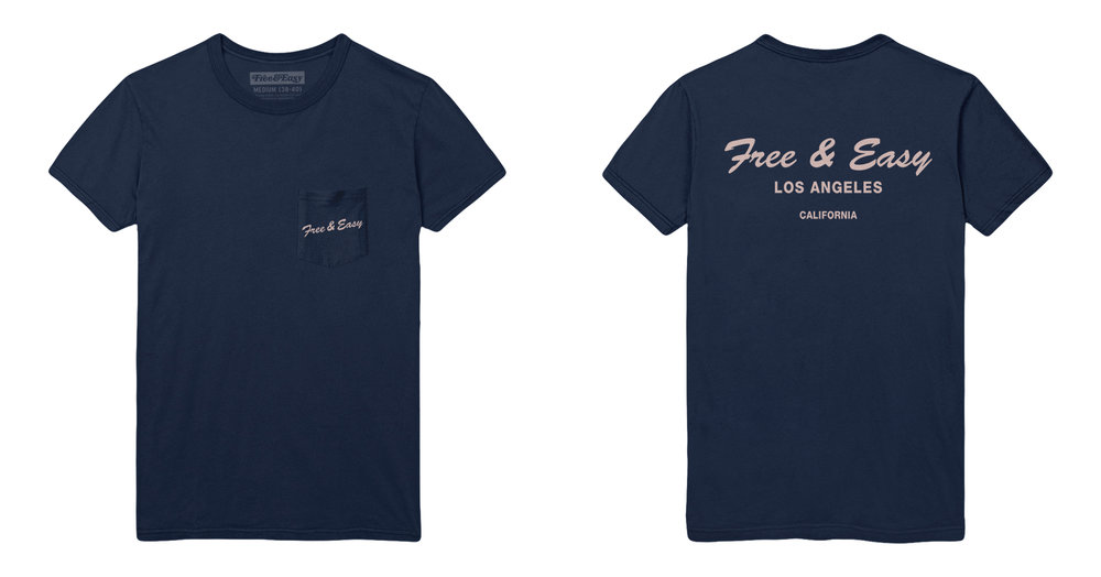 DELI SS POCKET TEE (NAVY)
