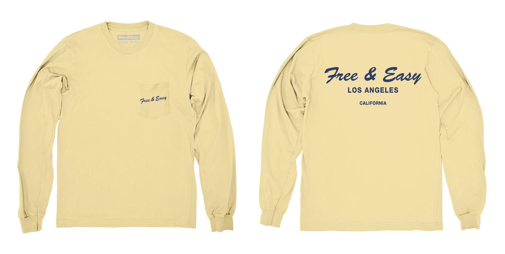 DELI LS POCKET TEE (LEMONADE)