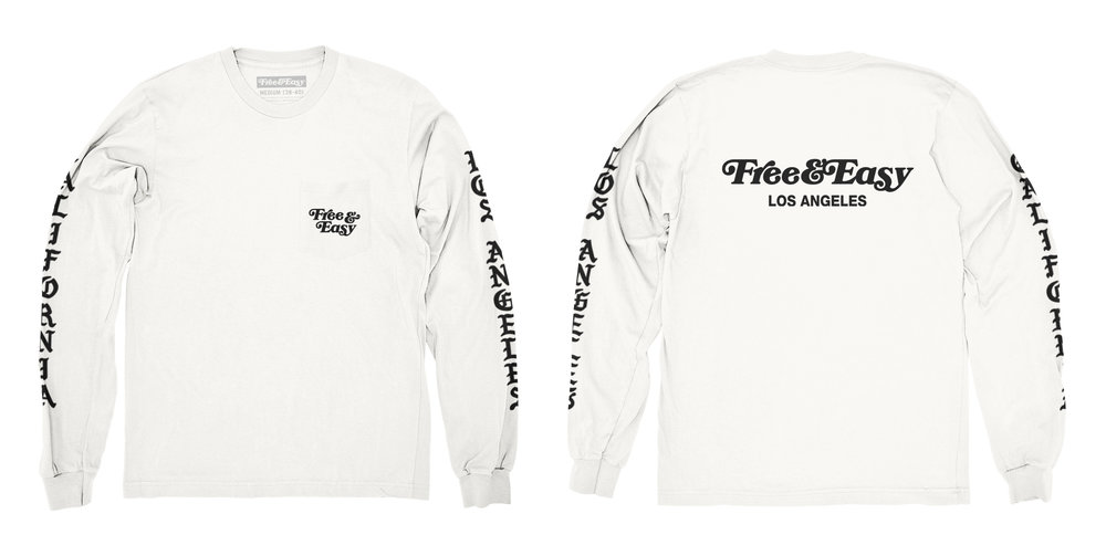 BLACKLETTER LS POCKET TEE (WHITE)