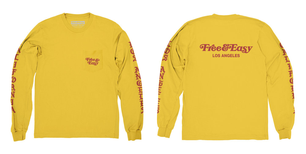 BLACKLETTER LS POCKET TEE (MUSTARD)