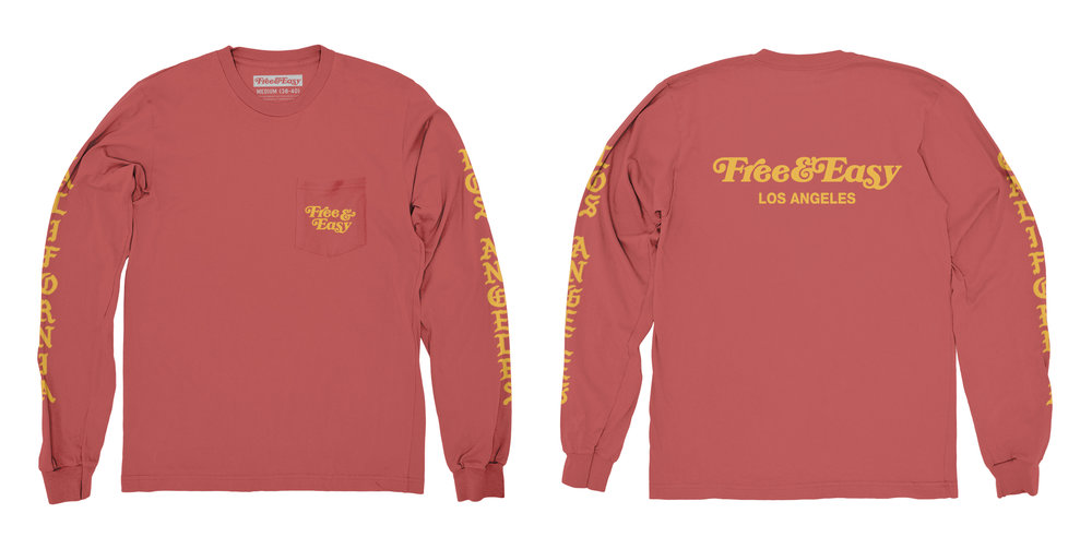 BLACKLETTER LS POCKET TEE (RED)