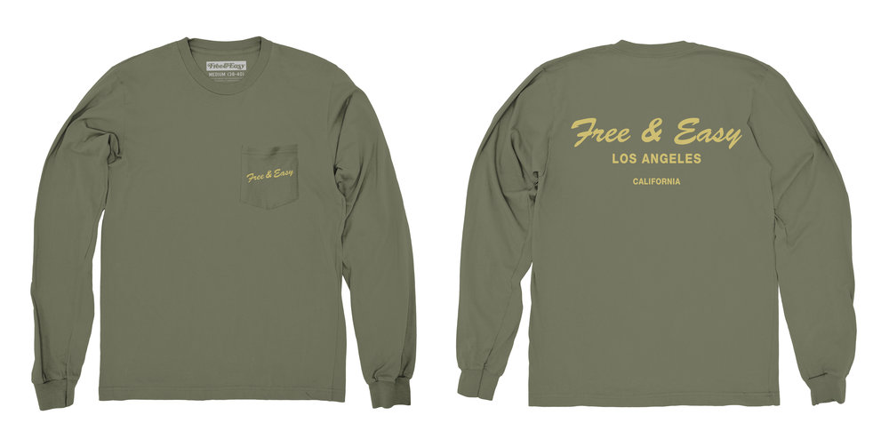DELI LS POCKET TEE (ARMY)