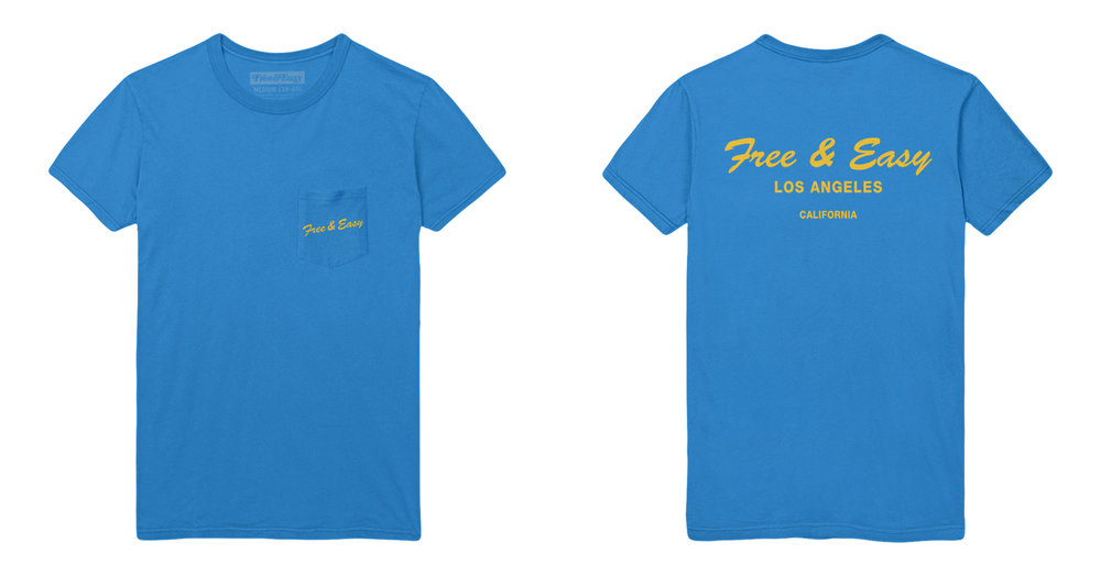 DELI SS POCKET TEE (BLUE)