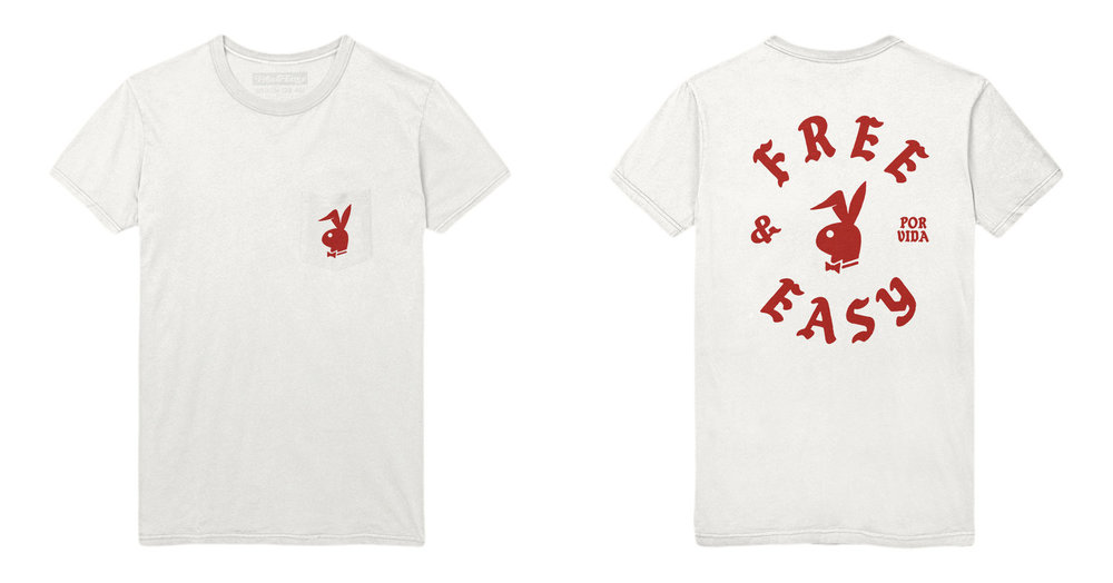 BUNNY SS POCKET TEE (WHITE/RED)