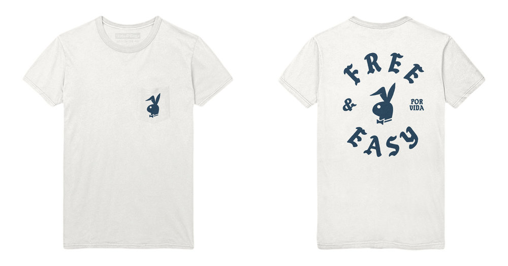 BUNNY SS POCKET TEE (WHITE/NAVY)