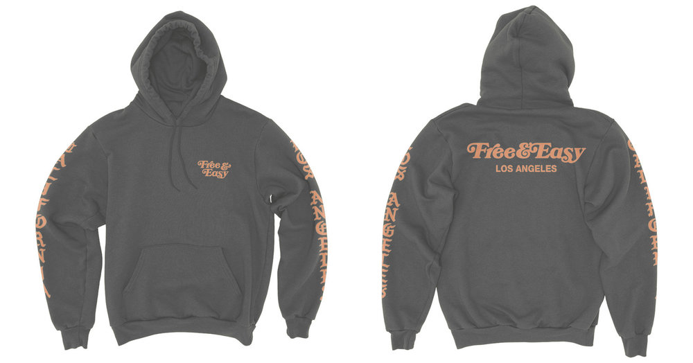 BLACKLETTER HOODIE (CHARCOAL)